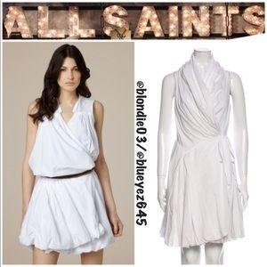AllSaints Spitalfields Aditya wrap dress UK8/US4